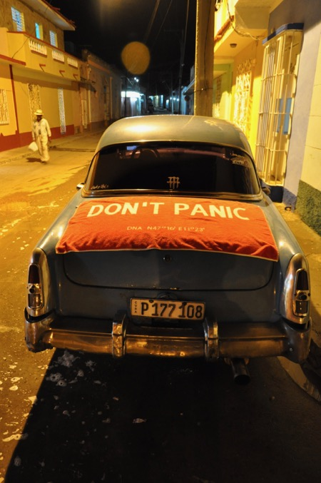 DON'T PANIC Towel on Cuba